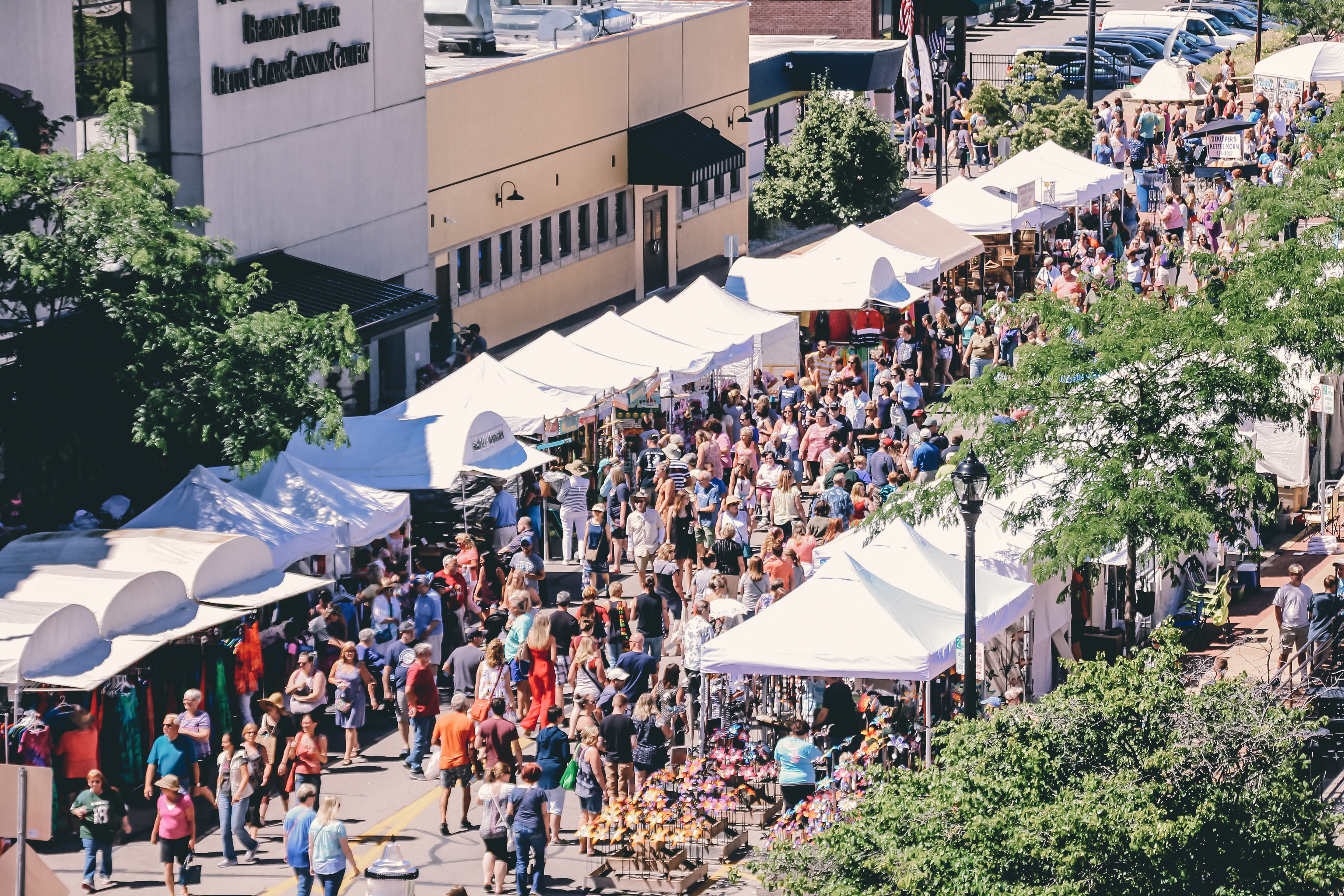 Birds eye view of the Lakeshore Art Festival