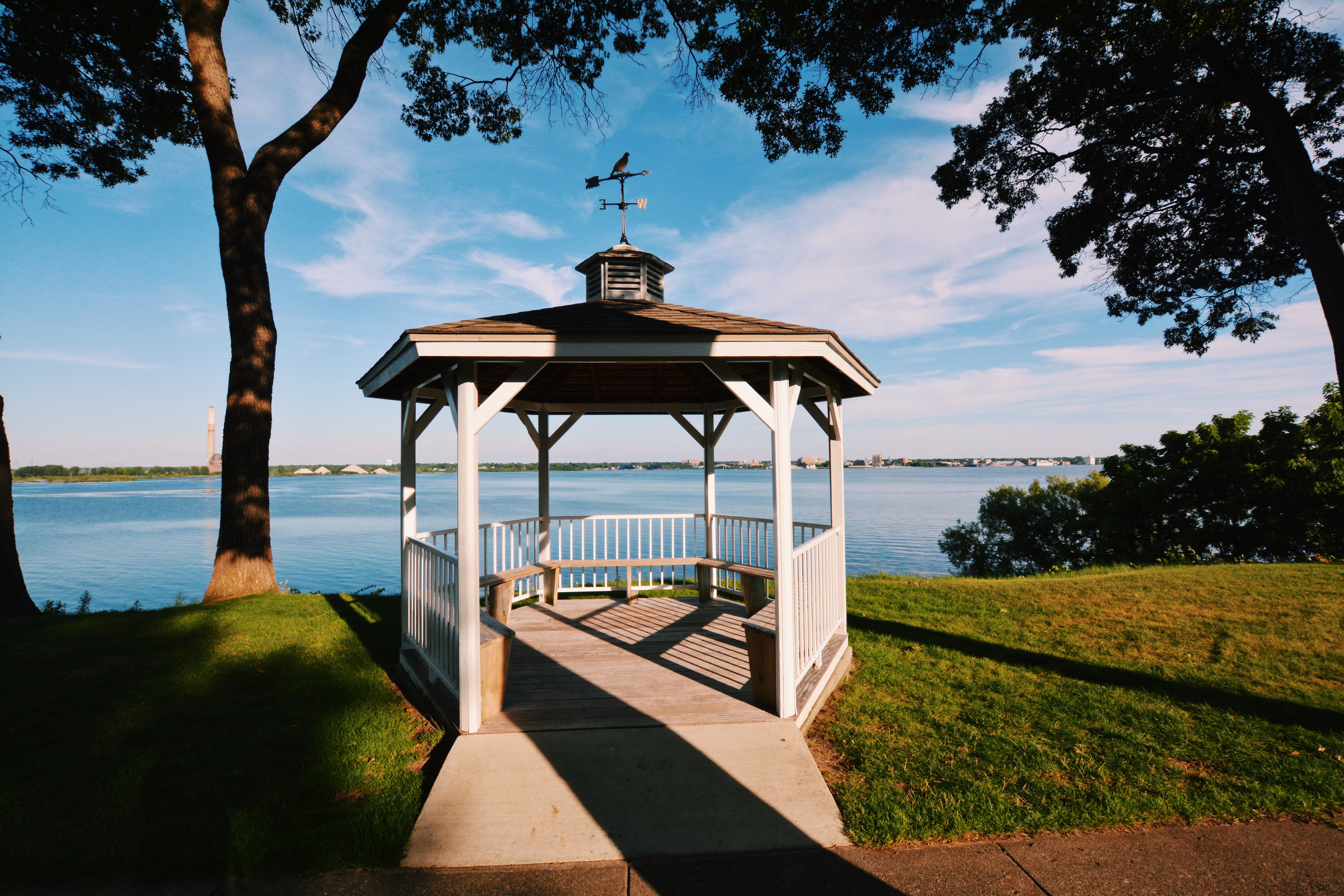 Gazebo on Muskegon Lake