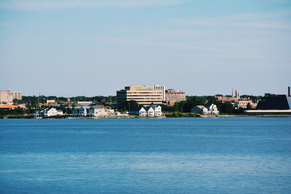 Downtown Shoreline on Muskegon Lake