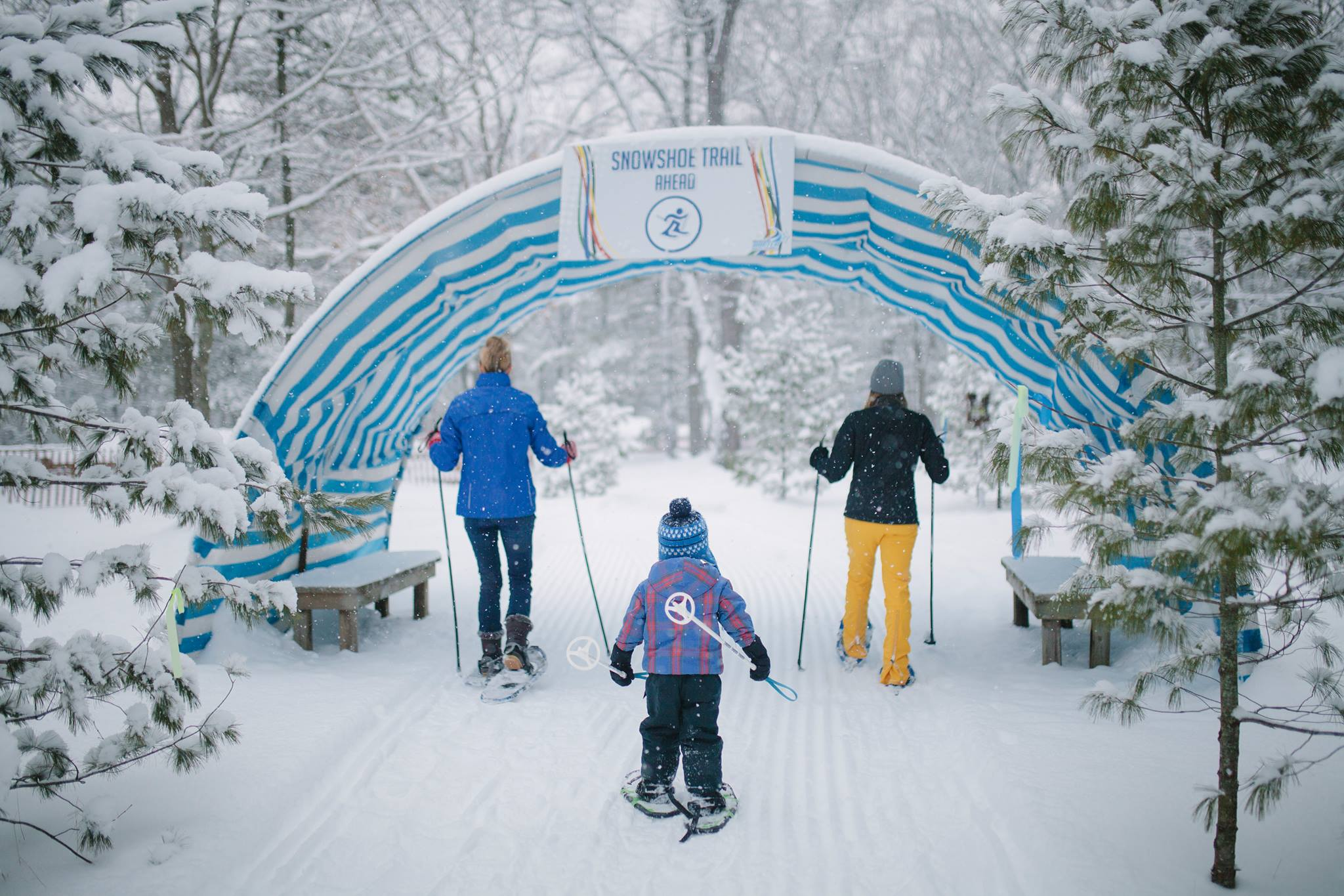 People on the Snowshoe Trail at the Muskegon Winter Sports Complex